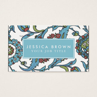 Islamic Floral Ceramic Tile Business Card Template
