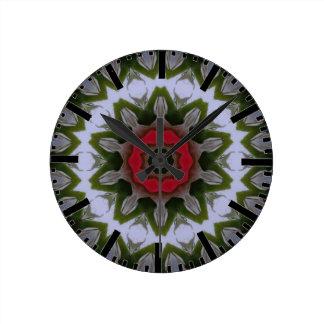 Islamic geometric art clock