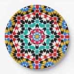 Islamic geometric pattern 9 inch paper plate