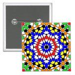 Islamic geometric pattern button