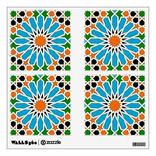 Islamic geometric pattern collection Wall Decal Zazzle