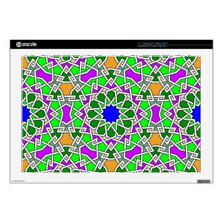 "Islamic geometric pattern computer skin 17"" laptop skin"