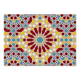 """Islamic geometric pattern 5"""" x 7"""" invitation card"""