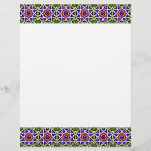 Arabic letterhead zazzle islamic geometric pattern letterhead spiritdancerdesigns Image collections