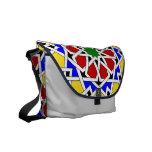 Islamic geometric pattern messenger bag