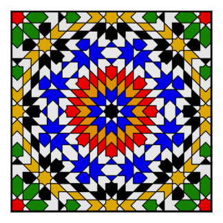 Islamic geometric pattern Poster