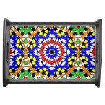 Islamic geometric pattern serving tray