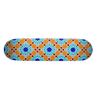 Islamic geometric pattern skateboard