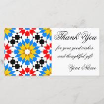Islamic geometric pattern thank you photocard
