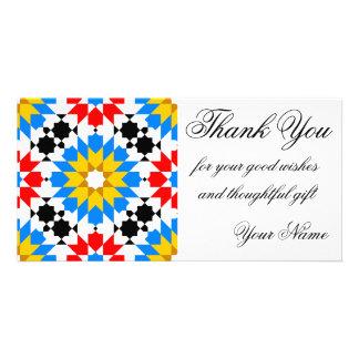 Islamic geometric pattern thank you photocard photo cards