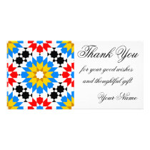 Islamic geometric pattern thank you photocard card