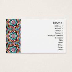 Islamic Geometric Pattern Tile Business Card at Zazzle