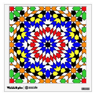 Islamic geometric pattern wall decals