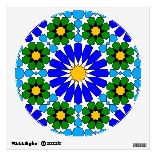 Islamic geometric pattern wall decals Zazzle