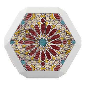 Islamic geometric pattern white bluetooth speaker