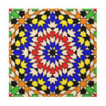 Islamic geometric pattern wood canvases