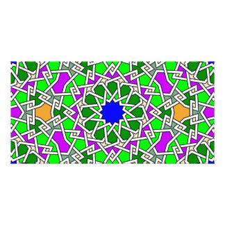 Islamic geometric patterns photo card