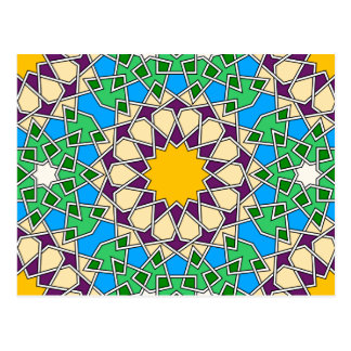 Islamic geometric patterns postcard