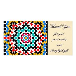 Islamic geometric patterns thank you Photo Card
