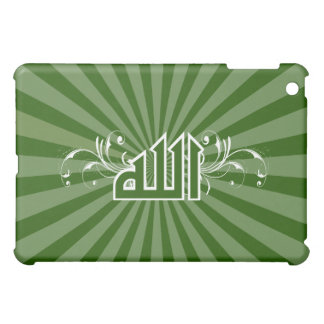 Islamic green retro print calligraphy Allah case Case For The iPad Mini