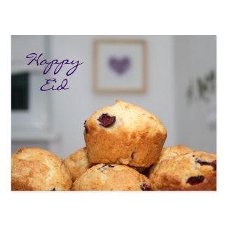 Islamic happy Eid kareem sweets muffins cupcakes Postcard
