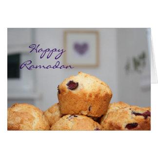 Islamic happy Ramadan kareem sweets muffins Greeting Card
