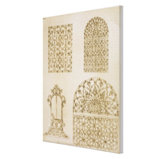 Islamic ironwork grills for windows and wells, fro canvas print