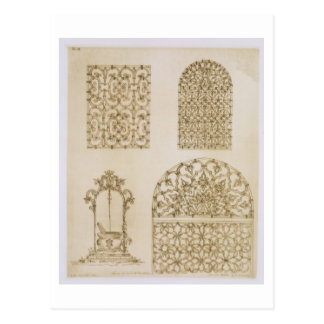 Islamic ironwork grills for windows and wells, fro postcard