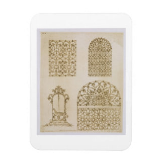 Islamic ironwork grills for windows and wells, fro flexible magnet