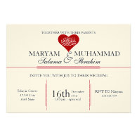 Islamic Islam vintage wedding engagement red heart
