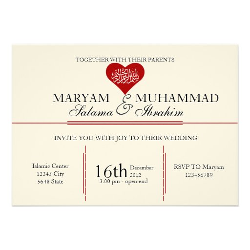 ... wedding engagement red heart 5x7 Paper Invitation Card | Zazzle
