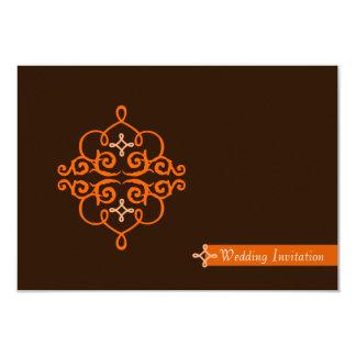 Islamic Islam wedding engagement damask 3.5x5 Paper Invitation Card