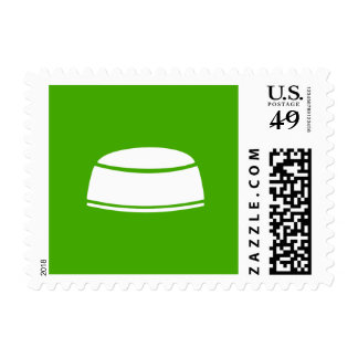 Islamic Kufi Prayer Cap Green Icon Stamp