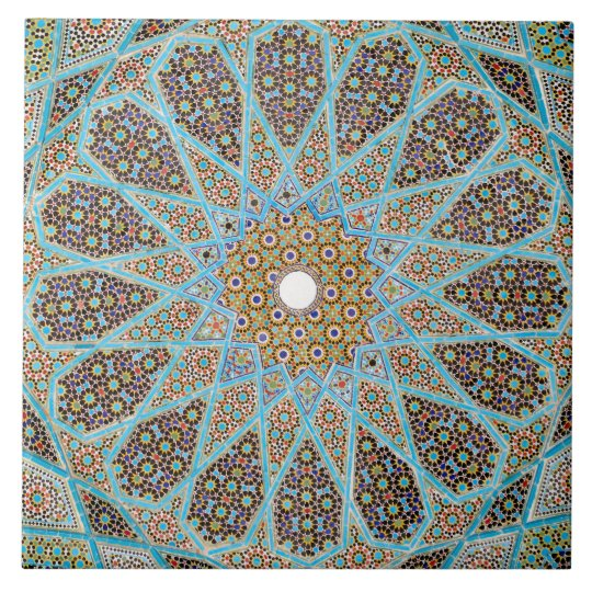 Islamic Mosaic Design Ceramic Photo Tile Zazzle Com