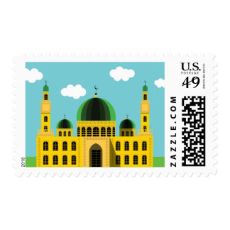 Islamic Mosque Cartoon Stamp