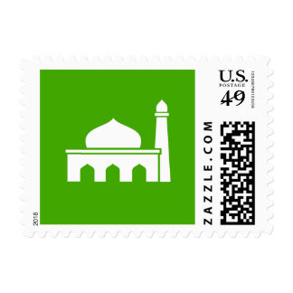 Islamic Mosque Green Icon Stamp