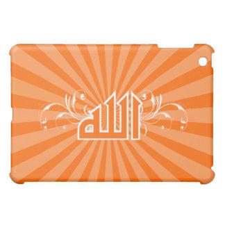 Islamic orange retro print calligraphy Allah case iPad Mini Cover