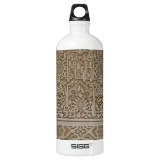 Islamic Patterns in the Alhambra, Andalusia, Spain Aluminum Water Bottle