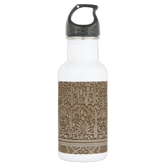Islamic Patterns in the Alhambra, Andalusia, Spain Water Bottle