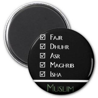 Islamic prayer - 5 times a day - Muslim print 2 Inch Round Magnet
