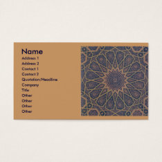 Islamic Print Business Card. Business Card at Zazzle