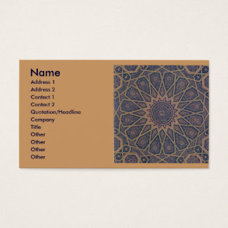 Islamic Print Business card. Business Card