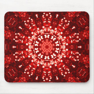 Islamic red geometric mouse pad