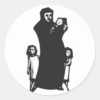 Islamic Refugee Classic Round Sticker