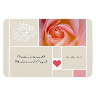 Islamic rose quran wedding quran save the date flexible magnet