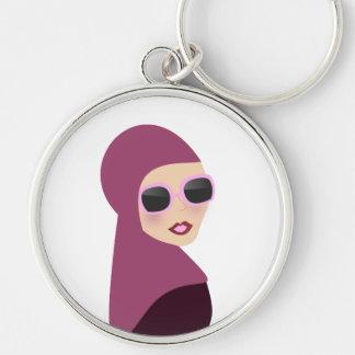 Islamic scarf muslima hijab lady style keychain