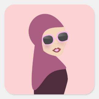 Islamic scarf muslima hijab lady style square sticker
