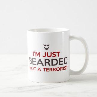 Islamic slogan I m just bearded not a terrorist Mug
