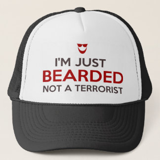 Islamic slogan I'm just bearded not a terrorist Trucker Hat