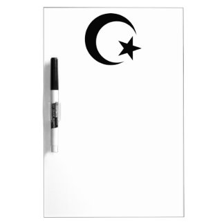 Islamic Star And Crescent Dry-Erase Boards